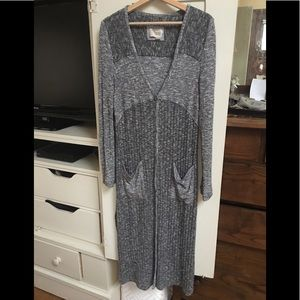 Anthropologie long gray sweater size L
